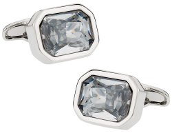 Austrian Clear Crystal Cufflinks