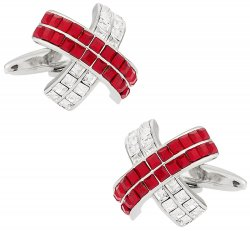 Crystal Cufflinks in Red