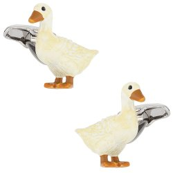 Duck Cufflinks Painted
