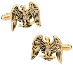 Gold American Eagle Cufflinks
