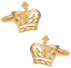 Gold Crown Cufflinks