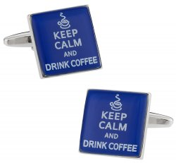 Keep Calm Coffee Cufflinks