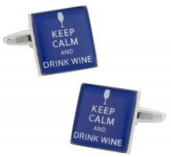 Keep Calm Wine Cufflinks