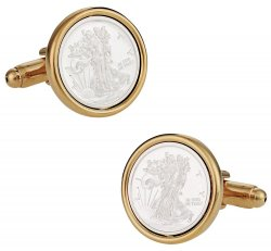 Lady Liberty Bullion Cufflinks