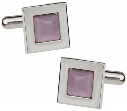 Lavendar Glass Cufflinks