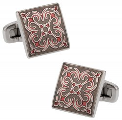 Layered Enamel Cufflinks