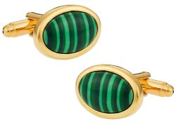 Malachite Gold Cufflinks