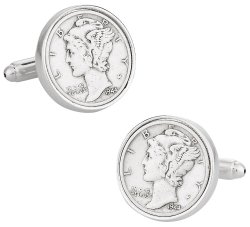 Mercury Dime Coin Cufflinks