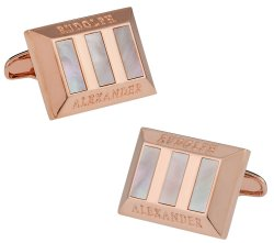 Mother of Pearl Heritage Rose Gold Cufflinks