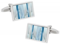 Ocean Blue Mother of Pearl Cufflinks