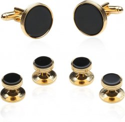 Onyx And Gold Wedding Set