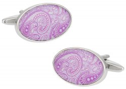 Paisley Cufflinks in Lavendar Purple