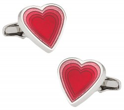 Valentine Red Heart Cufflinks