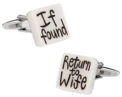 Return to Wife Wedding Cufflinks