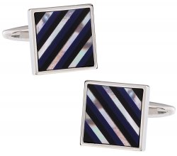 Semi-Precious Striped Cufflinks