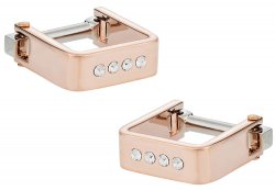 Square Wrap Rose Gold Crystal Cufflinks