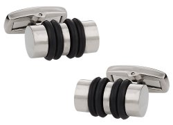 Titanium and Rubber Cufflinks