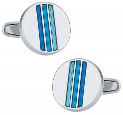 Tonal Blue Cufflinks
