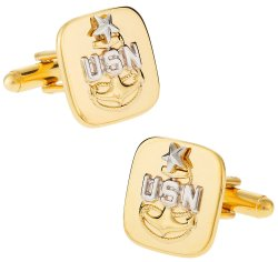 US Navy Cufflinks E8 Senior Chief Petty Officer CSPO USN