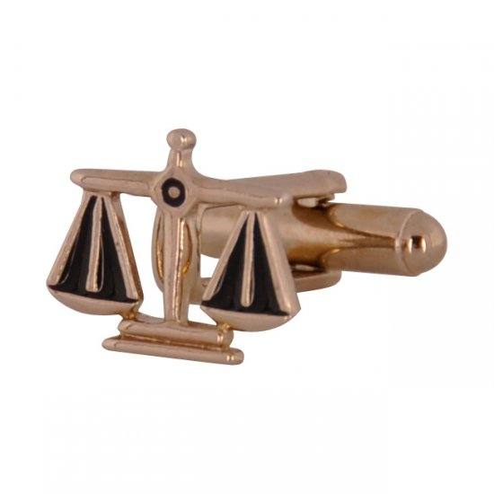 Gold Scales of Justice Cufflinks