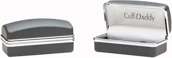 Gray & Silver Fiber Optic Cufflinks